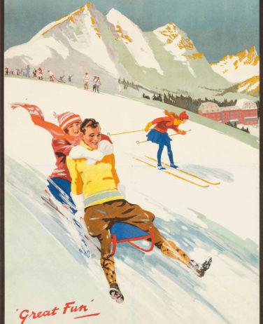 Affiche le Revard Aix-les-Bains Chamonix