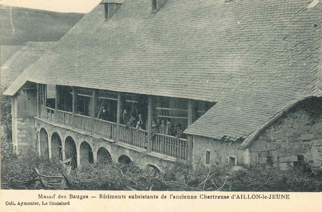 Batiments substistant ancienne Chartreuse Aillon le Jeune