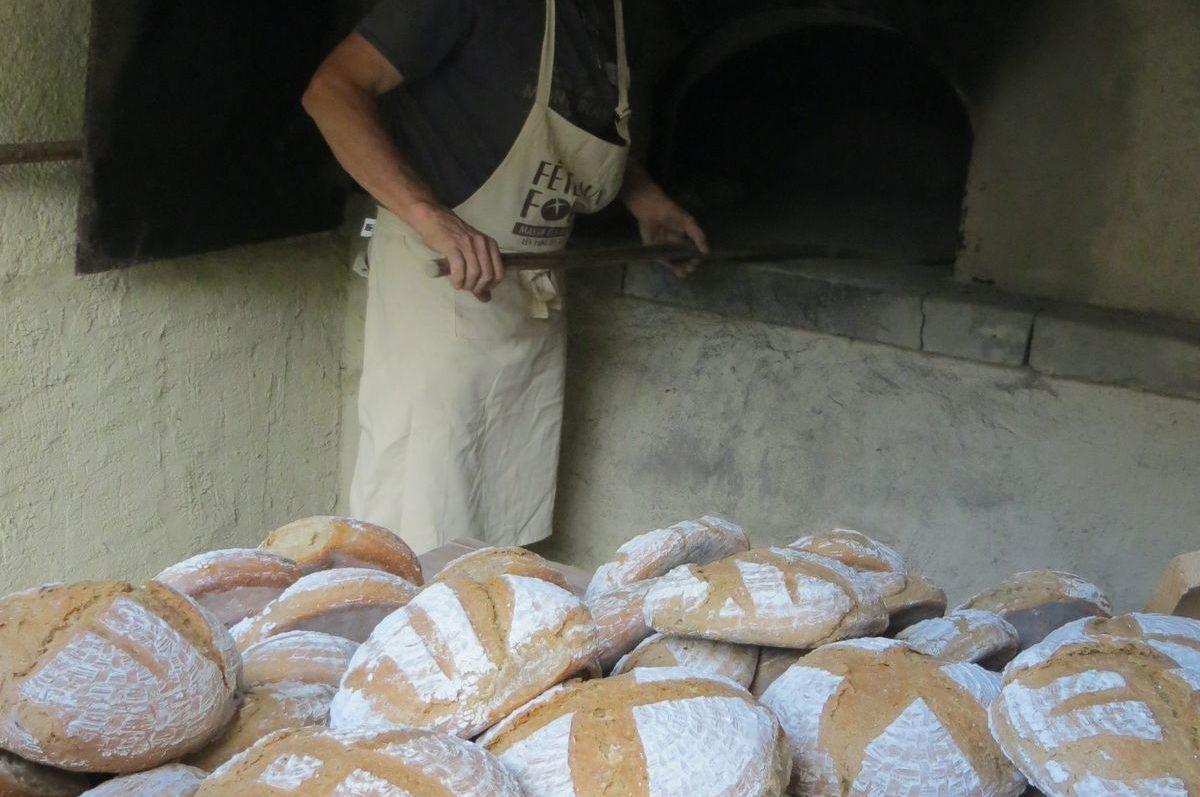 Cuisson au four à pain Chartreuse d'Aillon