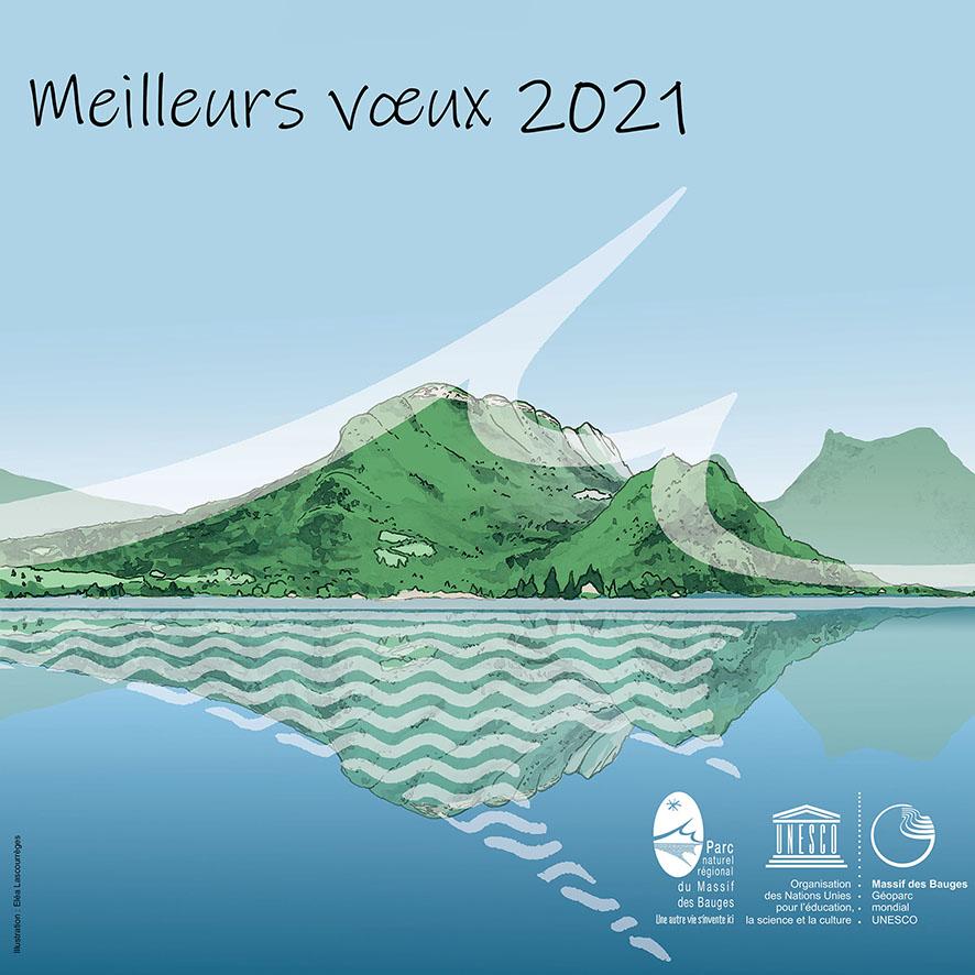 Carte de voeux 2021 du Parc du massif des Bauges