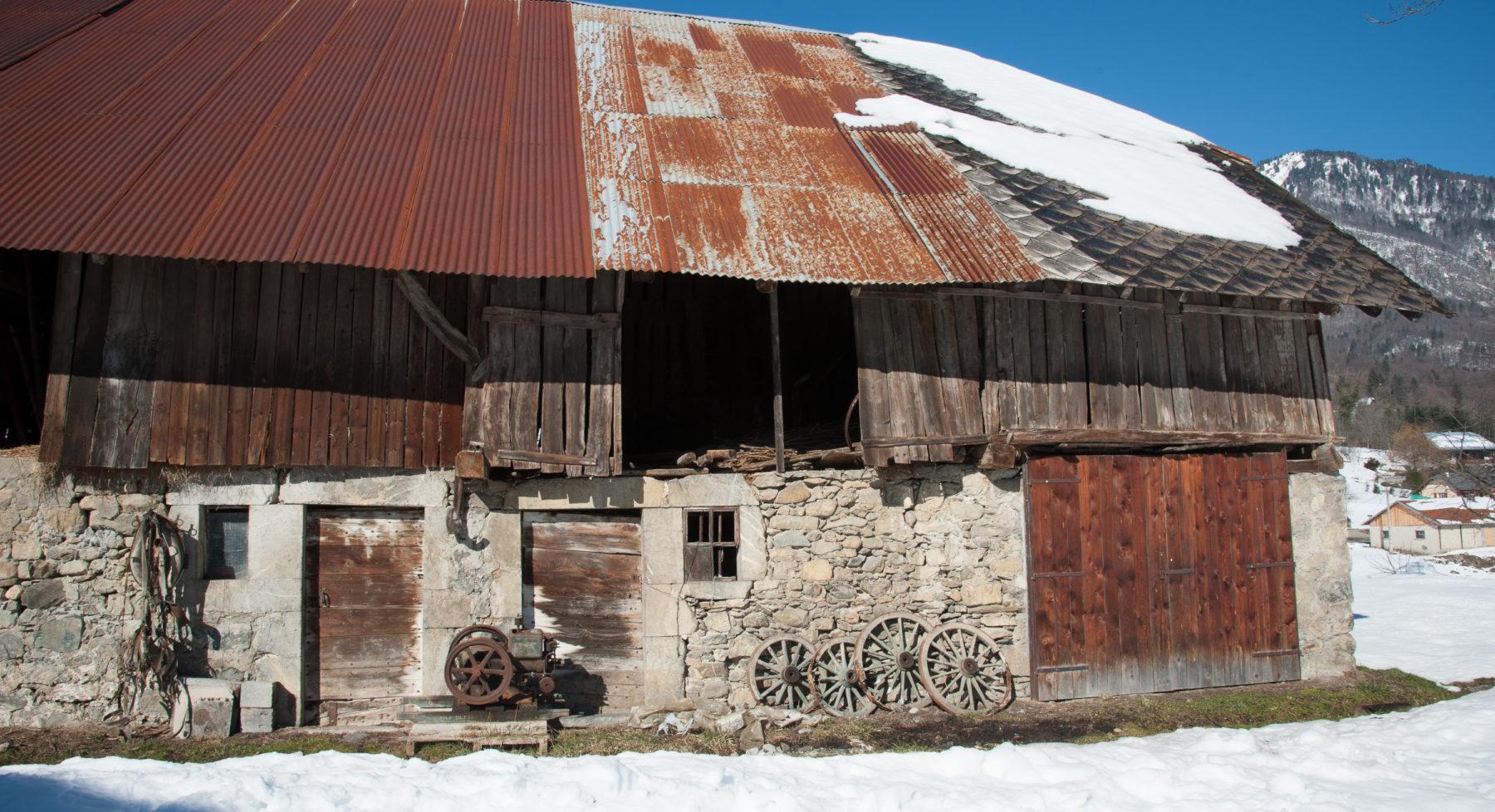 Grange étable à Cléry dans le massif des Bauges