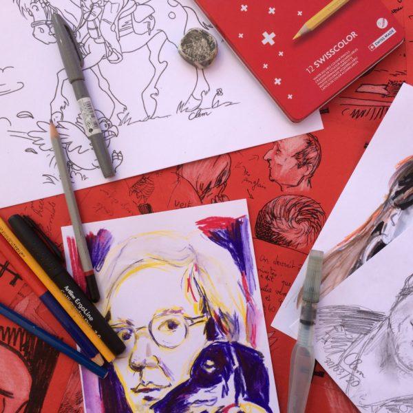 Travaux d'élèves à l'atelier BD en exposition à la Chartreuse d'Aillon